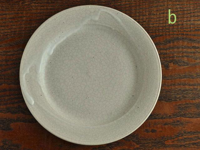 失透釉六寸リム皿-8b