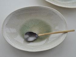 ビードロ釉オーバル鉢-7