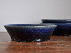 ルリ釉台形鉢-4