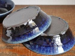 ルリ釉台形鉢-6